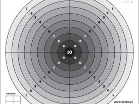 Tarcza strzelecka 1 szt. 14x14 cm czarny środek