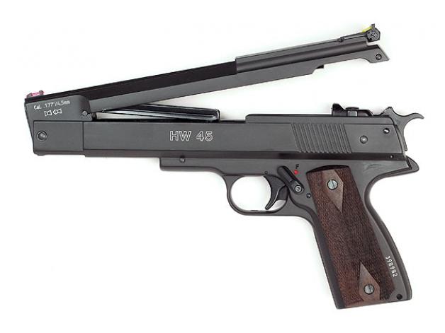 Pistolet wiatrówka Weihrauch HW 45 4.5mm - Zdjęcie