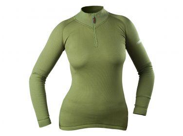 Koszulka z golfem damska Graff 902-D oliwka
