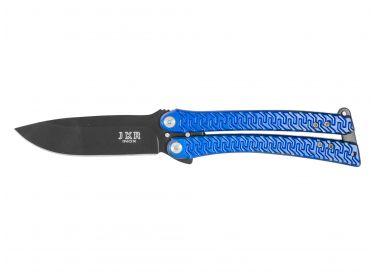 Nóż Joker motylek niebieski ostrze 9,5 cm