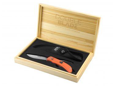 Nóż RealHunter Double Blade pomarańczowy