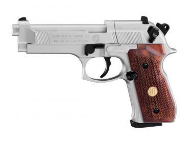 Pistolet Beretta M 92 FS nickel/wood 4.5 mm