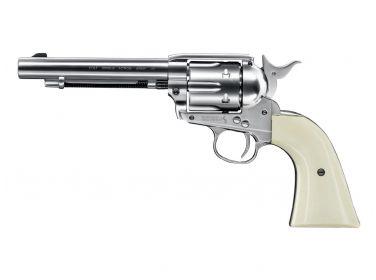 "Rewolwer Colt SAA .45-5,5"" nikiel 4,5..."